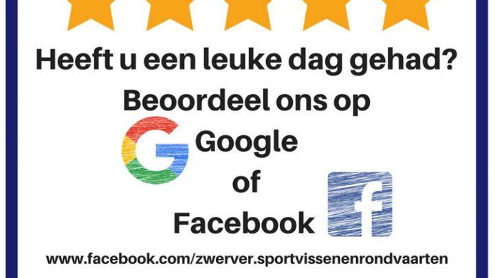 Beoordeel de Zwerver op Google of Facebook