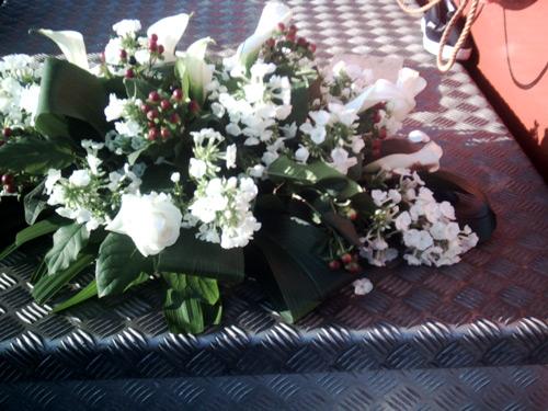 Laatste groet bloemen